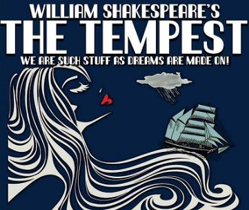 Graphic poster with the title William Shakespeare's The Tempest